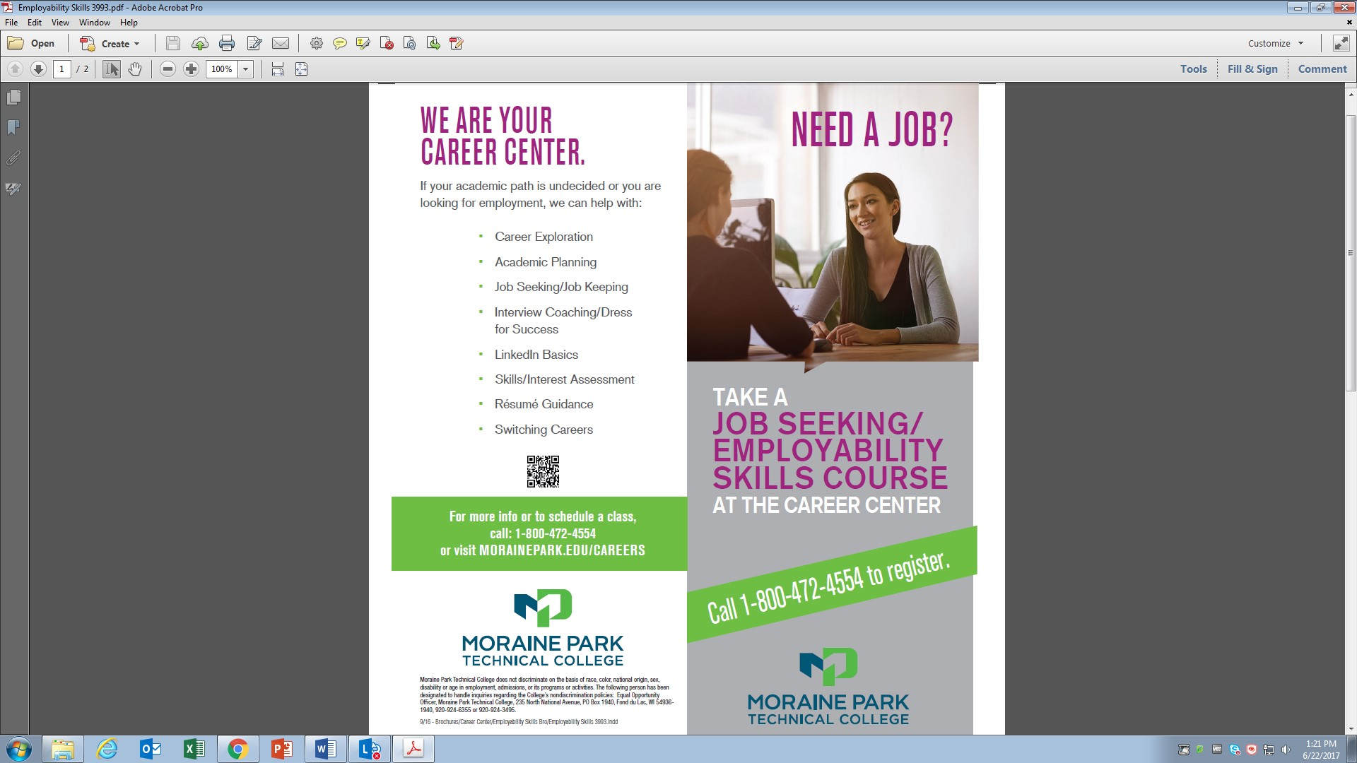 View Employment Skills Brochure